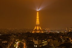 Travel photography Paris Eiffel tower at night light