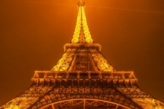 Travel photography Paris Eiffel tower at night