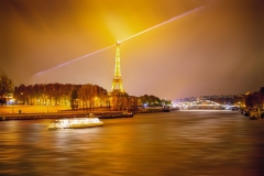 Travel photography Paris Eiffel tower night lighting